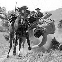 Fred Kennedy stunt fall from horse in 1949 movie