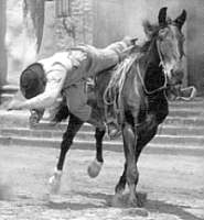 Fred Kennedy stunt fall from horse in South Two St. Louis