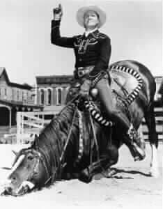 Champion  bows with rider Gene Autry