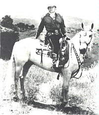 Buck Jones riding Silver