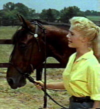 Shirley Jones and trotter horse