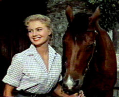 Shirley Jones and horse