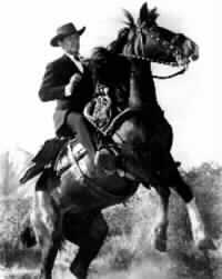 Clark Gable on rearing horse