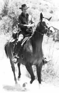 Richard Boone riding Rafter