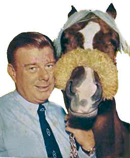 Arthur Godfrey and his horse Goldie