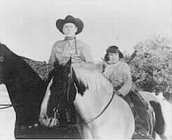 Lane, Blake, on horses in Red Ryder serial