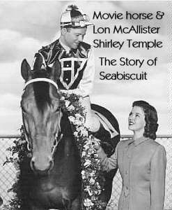 Lon McAllister, Shirley Temple and movie horse